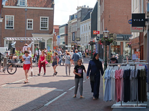 Shopping in Leiden Holland